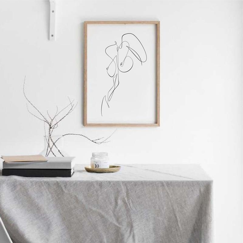 Female Line Canvas Prints