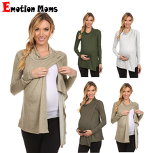 Emotion Moms Breastfeeding tops pregnancy clothes Solid Maternity Clothes Nursing top  for Pregnant Women Maternity T-shirt цена и фото