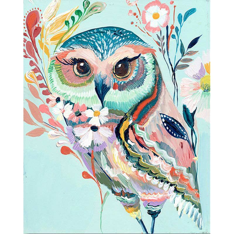 Coloring Painting By Numbers Colorful Owl Animals By Numbers Modern Wall Art Canvas Painting Acrylic Paint Unique Gift For Home-0