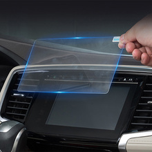 152mm*91mm Car GPS Navigation Screen Protector LCD Tempered Film for dongfeng Peugeot glass car Accessories