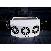 Солнечная энергия автомобильный вытяжной вентилятор теплоотвод Авто вентиляционное отверстие прохладная вентиляционная система Радиатор Охладитель вентиляторы