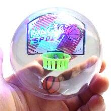 Inovação mini handheld basquete futebol tiro brinquedo led flash música brinquedo educacional dropshipping