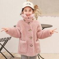 Real wool fur coat girl 2020 new fashion style real sheep fur and wool sheep shearing coat