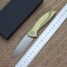 Neon Folding Knife Ball Bearing D2 Blade TC4 Titanium Handle Outdoor Camping Multipurpose Portable Hunting EDC Tool стоимость