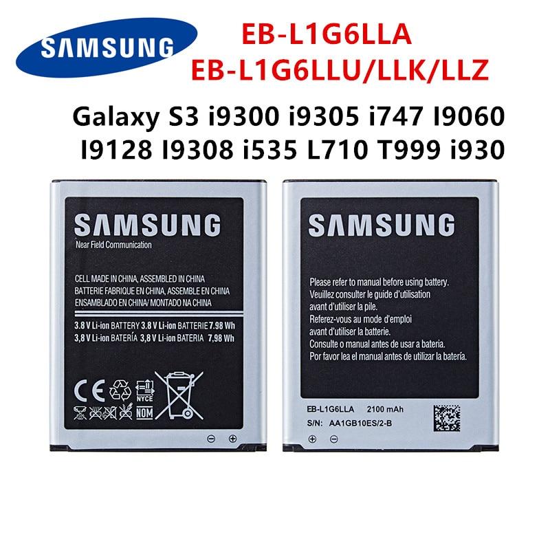 SAMSUNG Orginal EB-L1G6LLA EB-L1G6LLU/LLK/LLZ 2100mAh Battery For Samsung Galaxy S3 I9300 I9305 I747 I9060 I9128 I9308 I535 I930