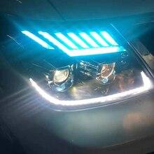 SHUOKE Headlight Assembly For Nissan Patrol Car Headlights 12V 5 Lighting Model 6000K with Bi LED/XENON Projector Lens D2H Bulbs цена 2017