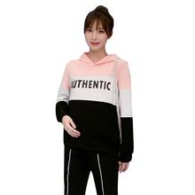 Верхние Леггинсы для беременных, комплекты футболок с длинными рукавами, весенняя одежда для беременных, осенняя спортивная одежда C882