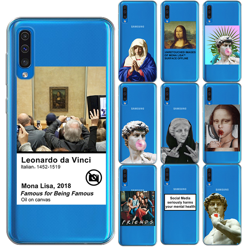 Birth of Venus Mona Lisa Art Soft TPU Case Cover For Samsung Galaxy A6 A8 Plus A9 A7 2018 A10 A20 A30 A40 A50 A60 A70 A50S A30S image