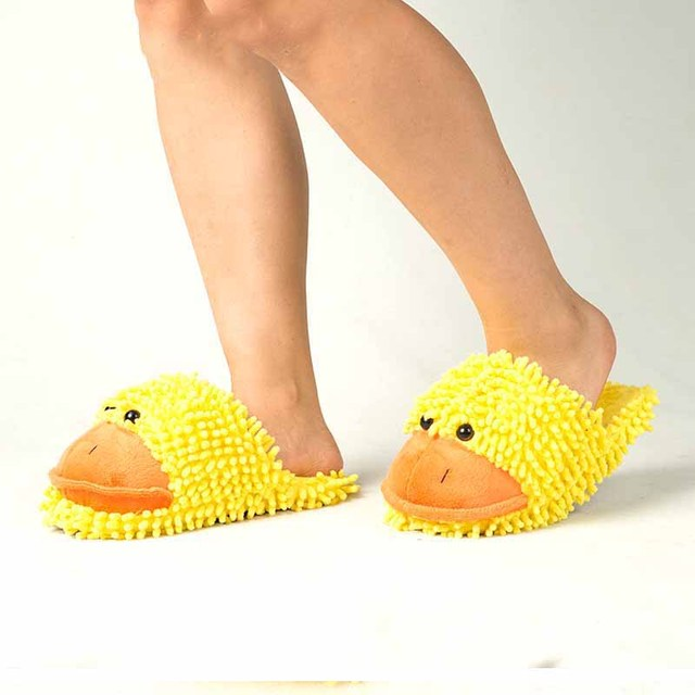 Jaune canard amoureux chaud femme pantoufles hiver en peluche maison étage chaussures maison pantoufles enfants hommes femmes maison chaussures intérieur