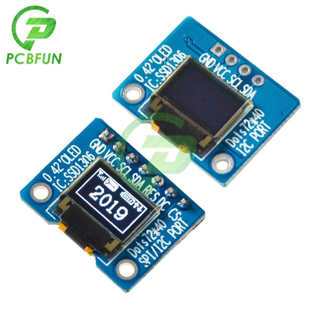 0.42 polegada oled display tela iic/spi interface oled módulo de tela de exibição ssd1306 driver ic 72x40 resolução 3.3v módulo