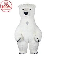 Ar inflável urso polar traje da mascote para anunciar o casamento personalizar adulto traje da mascote animal traje branco urso marrom