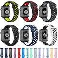 Мягкий силиконовый спортивный ремешок для Apple Watch 38 мм 40 мм серии 1 2 3 4 5 42 мм 44 мм ремешок для наручных часов аксессуары для iWatch