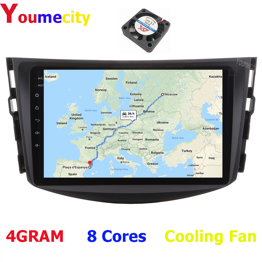 Youmecity Car Multimedia Players For Toyota RAV4 Rav 4 2007 2008 2009 2010 2011 2012 With Radio Video DVD Gps 2DIN Android 9.0 image