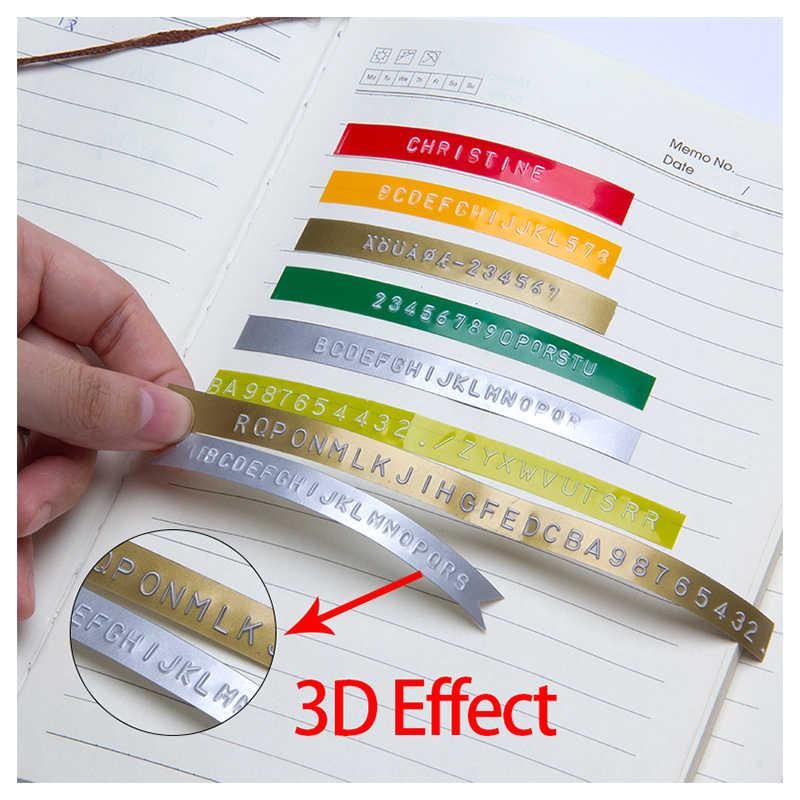 UniPlus DYMO 3D ลายนูน PVC เทปฉลากครีมรองพื้นชนิดแท่งสูตรกันนํ้ามอบการปกปิดระดับสูงสุดพรางรอยดำของกระและฝ้าได้อย่างเนียนสนิท 9 มม.กันน้ำฉลากสำหรับ DYMO 12966 15447 Motex E-303 DIY พิมพ์