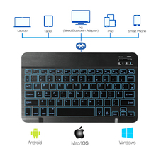 10 Inch Backlit Bluetooth Keyboard 78 Keys for Android/Windows/iOS/ iPad Tablet QWERTY AZERTY Franch/Italian/German
