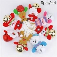 8 шт./компл. рождественские украшения для рождественской елки игрушка кукла повесить украшения Санта Клаус Рождественская Кукла-снеговик Декор для дома