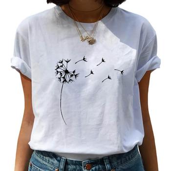 T koszula dla kobiet dmuchawiec Vogue drukowane Casual koszulki Harajuku lato z krótkim rękawem damskie bluzki koszulka damska Camiseta Mujer tanie i dobre opinie Soatrld REGULAR Sukno CN (pochodzenie) POLIESTER spandex NONE tops Z KRÓTKIM RĘKAWEM SHORT Dobrze pasuje do rozmiaru wybierz swój normalny rozmiar
