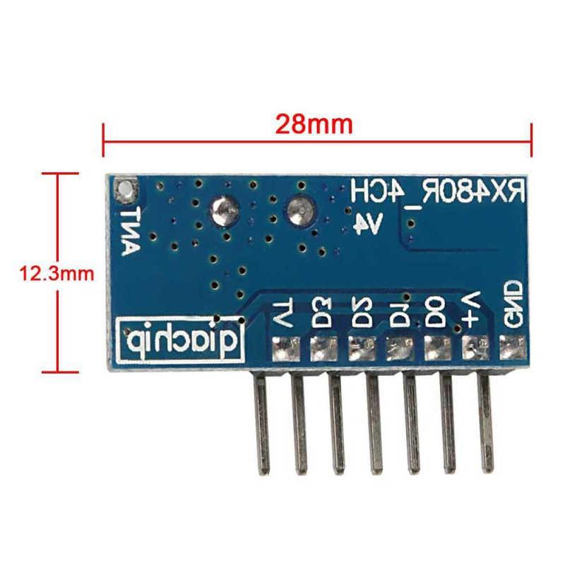 GERMA 433 Mhz RFรีโมทคอนโทรลเครื่องส่งสัญญาณRF 433 Mhzตัวรับสัญญาณสวิทช์โมดูลไร้สาย 4 CHเอาต์พุตควบคุมสวิทช์