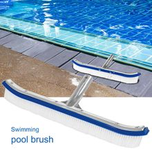 18 Inch Swimming Pool Brush Cleaning Tool Fish Pond Aluminum Back