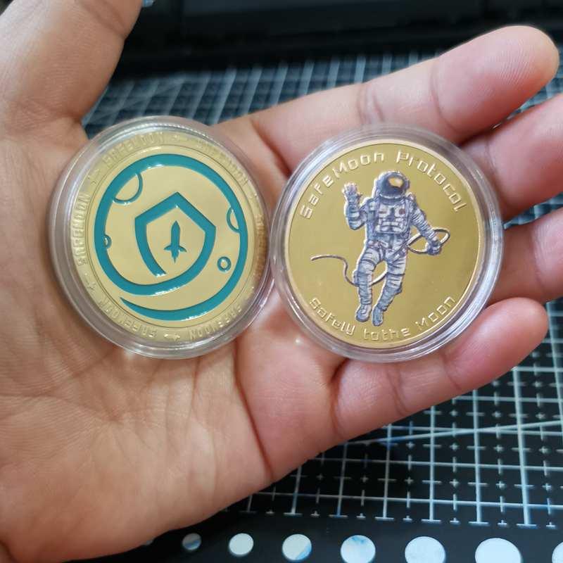 Новая монета SAFEMOON, Цифровая монета, позолоченная криптовалюта, коллекционный отличный подарок