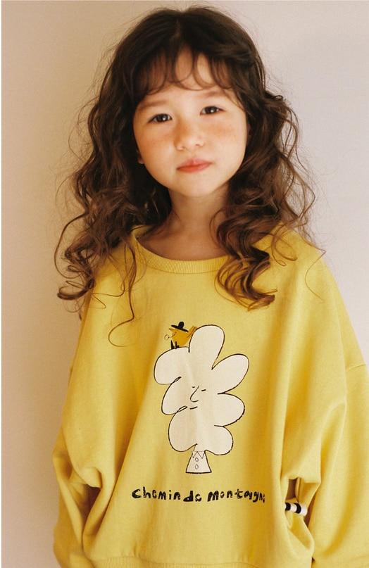 Kids Sweatshirt Korean Brand 2021 New Autumn Boys T-shirts Baby Girls Clothes Cotton Soft Tee Tops Shirt Children Sweatshirts 2