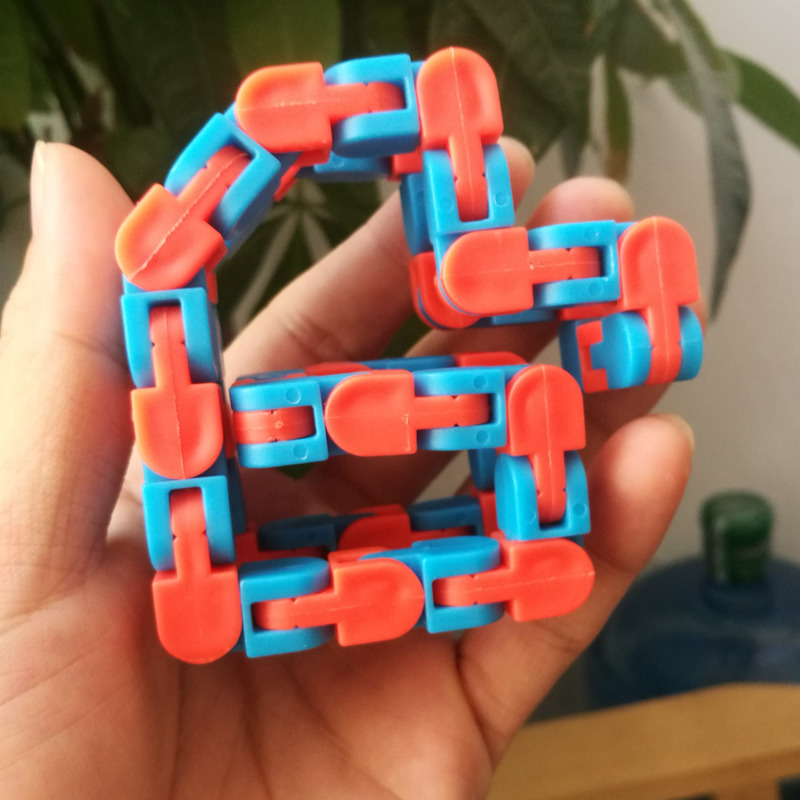 Funny Fidget Chain Stress Relief Toy For Children Kids Adult Bike Chain Fidget Spinner Bracelet Snake Puzzles Educatiaonal Toys