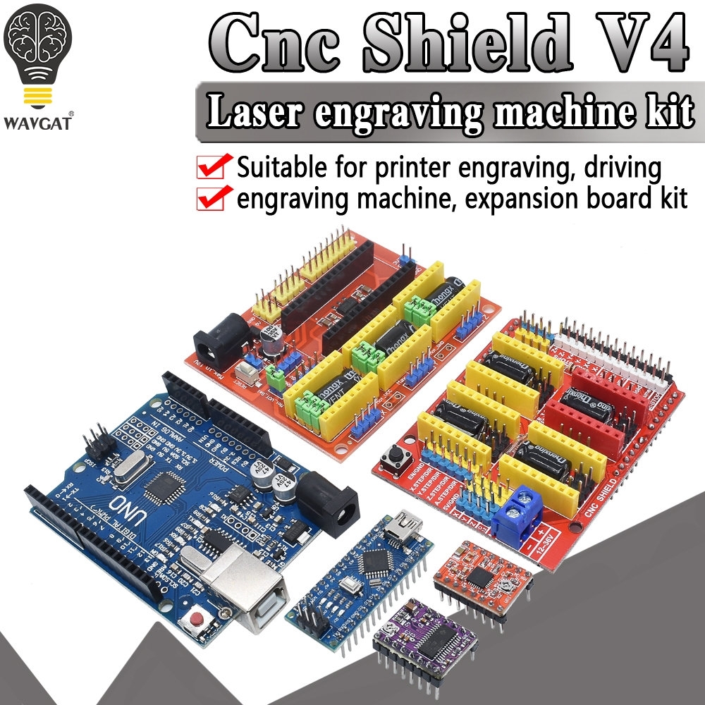 Expansion-Board Driver Engraving-Machine Usb-Cable Cnc-Shield 3d-Printer A4988 Nano-3.0/uno
