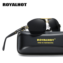 RoyalHot Polarized Rectangle Aloy Frame Sunglasses Men Women  Driving Sun Glasses Shades Oculos masculino Male 70019