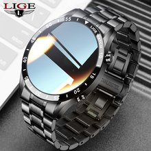 LIGE Bluetooth Call Smart Watch Men Waterproof Custom Dial Smartwatch Full Touch Screen For Android IOS Sports Fitness Tracker