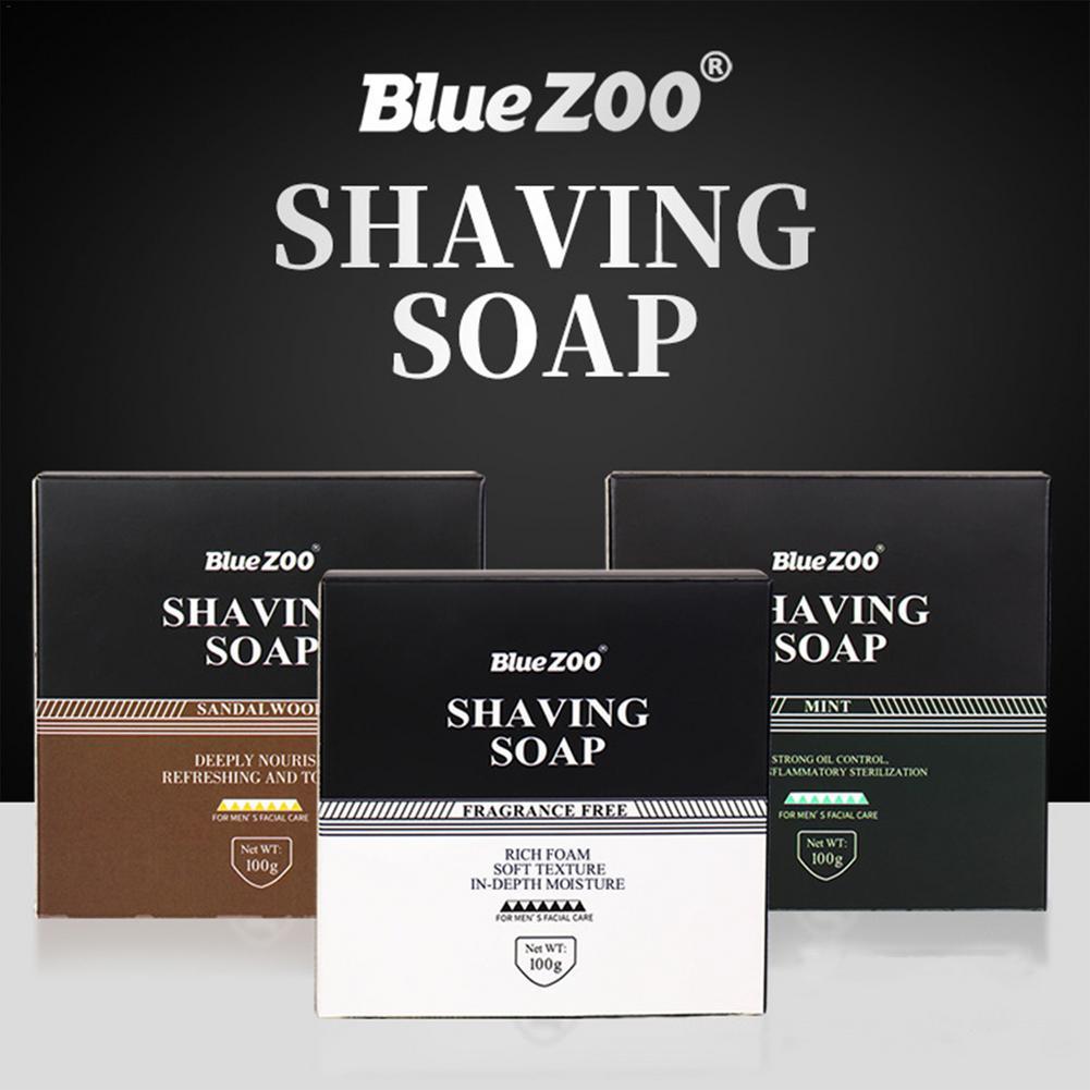 100g Li-corice Extract Men Beard Shaving Handmade Soap Cream Foaming Lather For Razor Barber Salon Face Cleaning Tool