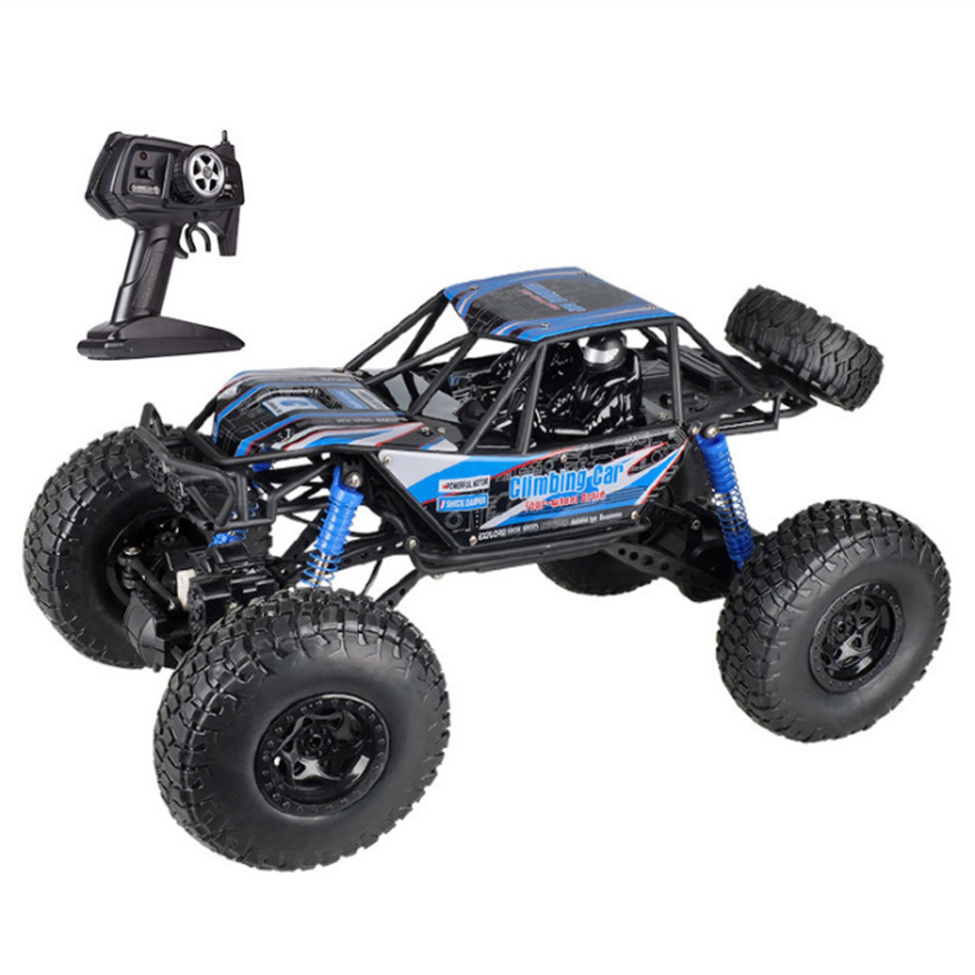 48cm 1:10 4WD 2.4G RC Monster Truck High Speed Racing Car Off Road Vehicle For Child School Play Education Birthday Gift Blue