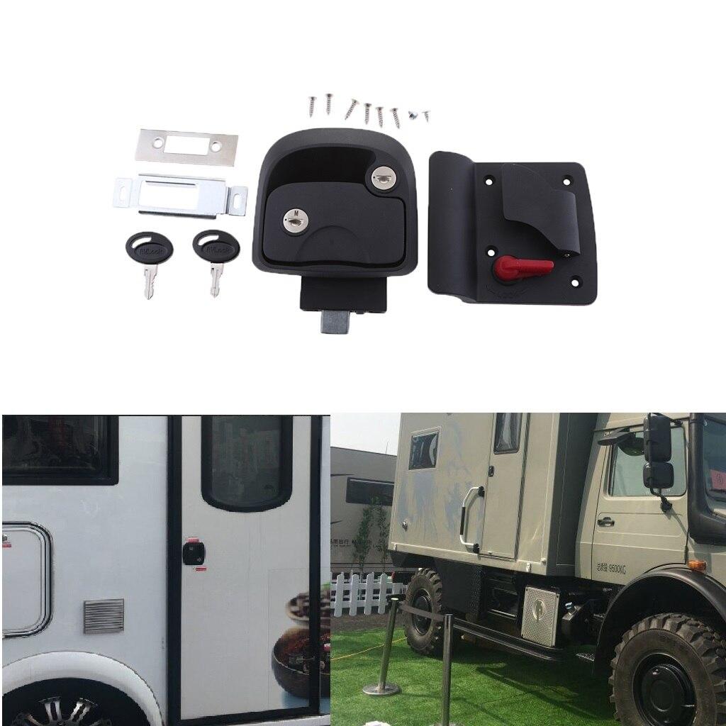 1 Set RV Trailer Entry Door Latch Deadbolt Handle Lock Keys Kit For RV/Camper/Trailer/Home Cabinet/Truck/Boat/Yacht Etc 2019 NEW