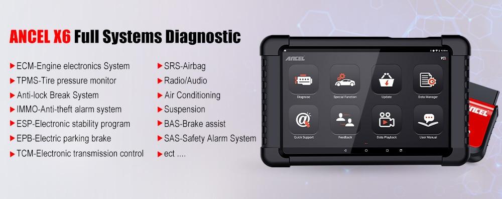 Heeb06690b70546b0aaaf2713c70d89bcL Ancel X6 OBD2 Scanner Bluetooth Scan ABS Airbag Oil EPB DPF Reset OBD 2 Automotive Scanner Code Reader Auto Car Diagnostic Tool