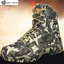 Men Military Army Boot 2018 Spring High Quality Waterproof Canvas Camouflage Tactical Combat Desert Ankle Boots Mens Shoes(China)