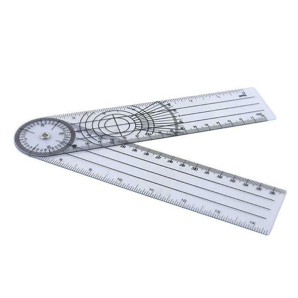 4PCS Ruler Set Sturdy Office Metal Ruler DIY Metal Ruler for Staff Kids Students