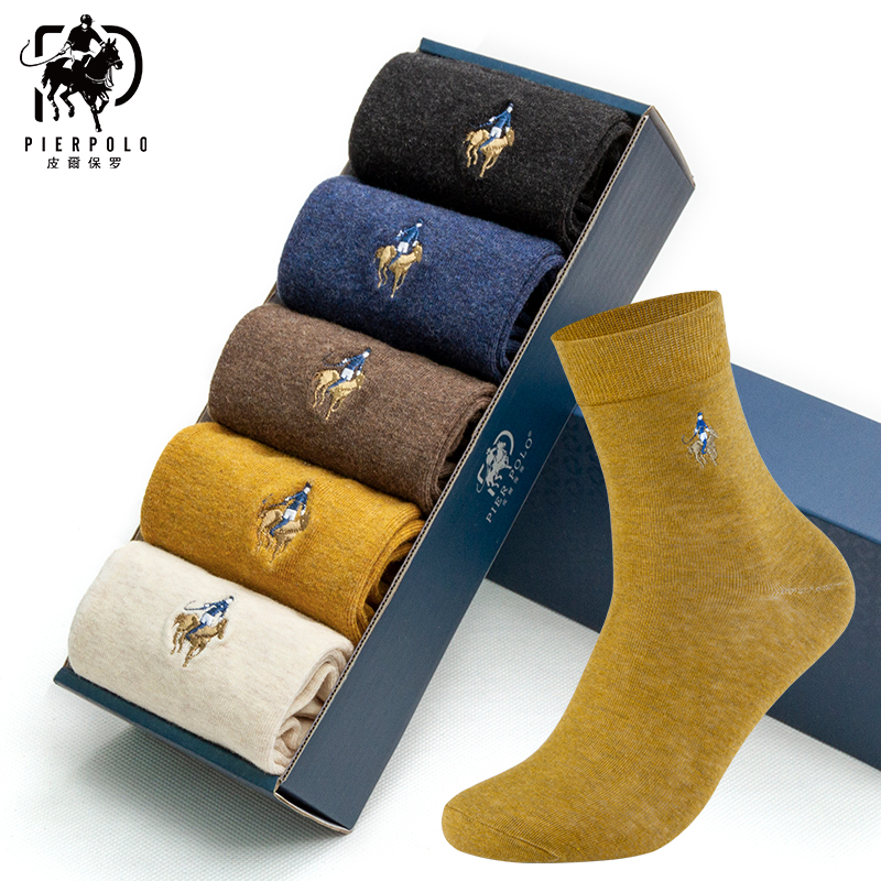 PIER POLO Socks Man Cotton Dress Socks Brand New Business Male Socks Men High Quality Leisure Long Socks For Gift Size 39-44