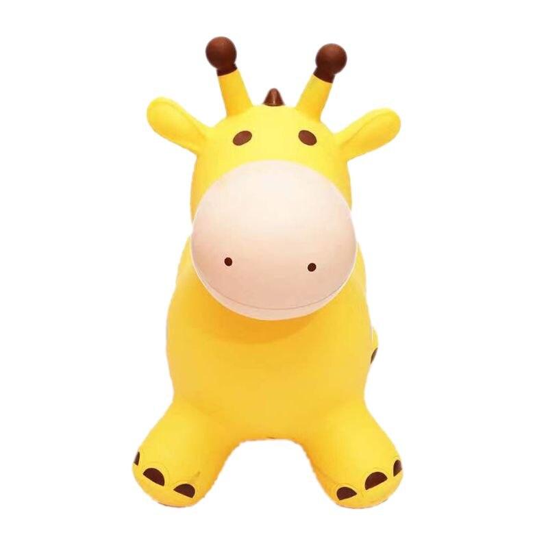 Inpany Bouncy Giraffe Hopper Inflatable Jumping Giraffe Bouncing Animal Toys