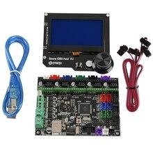 3D Printer Motherboard Kit Mks Gen L+12864 Rgb V1.1 Lcd Display for Cnc Ramps Cheetah F6 Vs Mini12864 цена в Москве и Питере