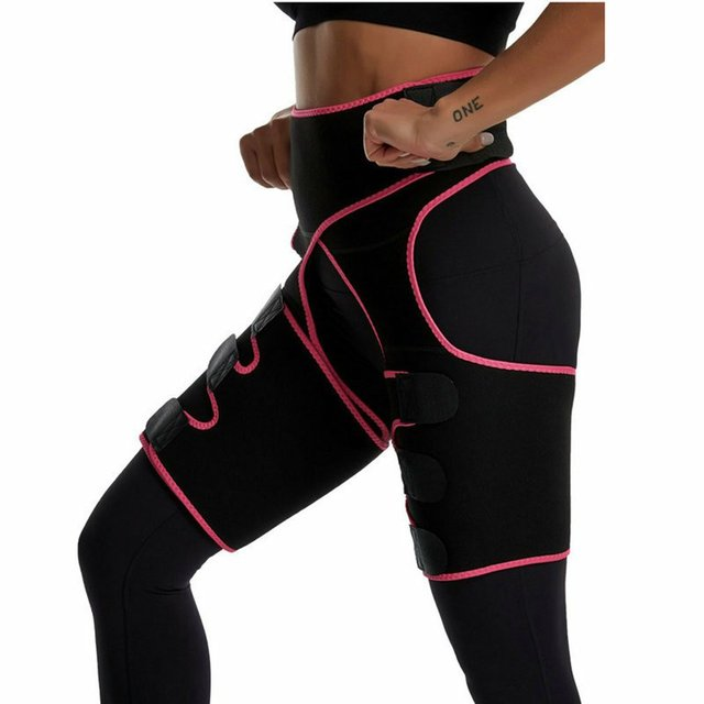 Three-in-one Yoga shorts hip belt explosion sweat belt sports bodybuilding adjustable durable waist belt leg belt Yoga shorts