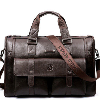 New brand design men's travel bag thicken leather fashion travel duffle large capacity shoulder messenger bag casual short trip