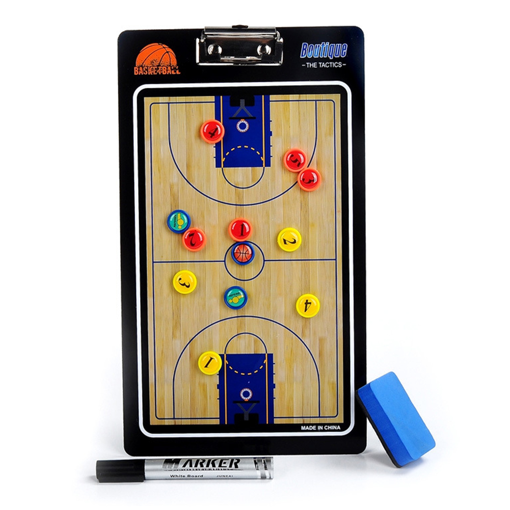 Wear Resistant Tactical Board Smooth Clear Colorful PVC Magnetic Portable Professional Training Coaching Basketball Supplies