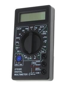 DT-830D Mini Pocket Digital Multimeter 1999 Counts AC/DC Volt Amp Ohm Diode hFE Continuity