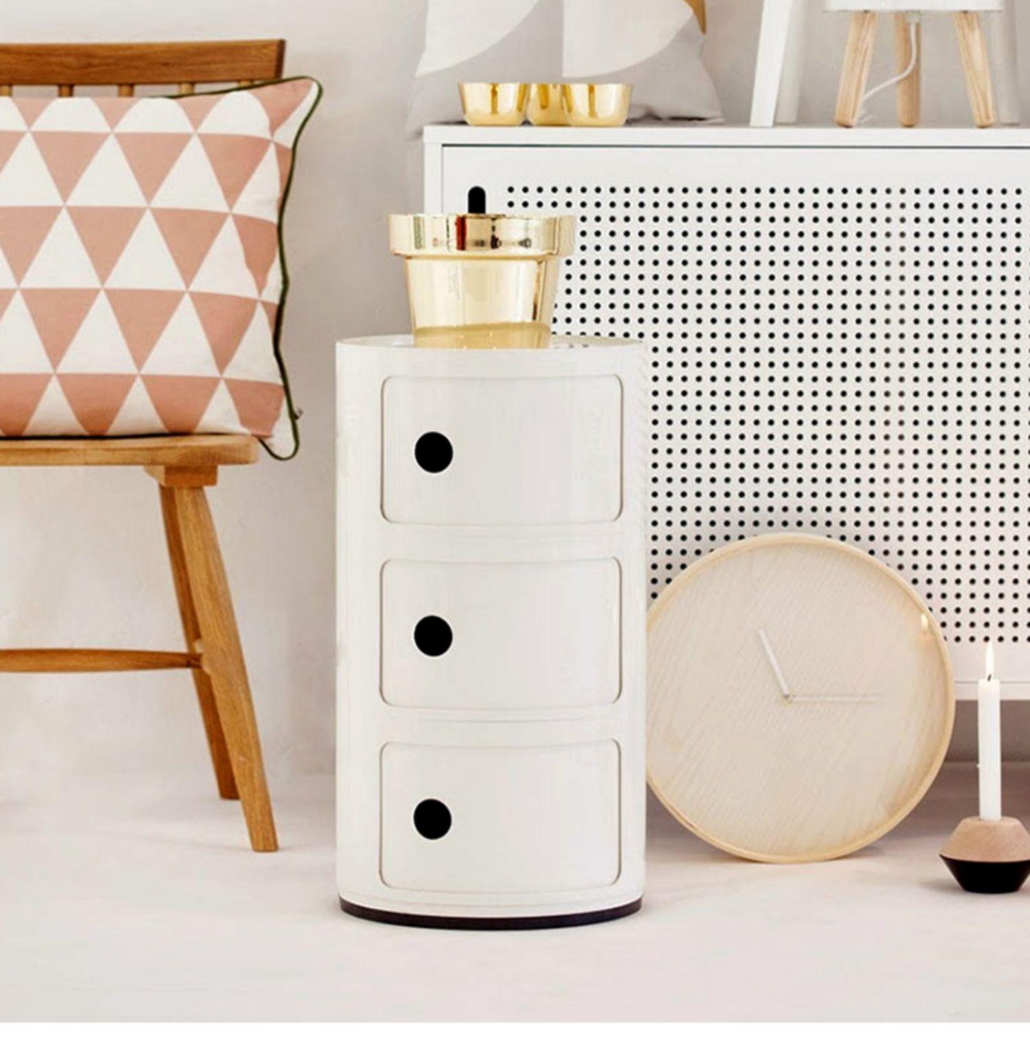 3 слоя Nordic АБС пластик детская прикроватная тумбочка ABC простой современный шкаф для хранения Творческий Многослойные журнальный столик - 4
