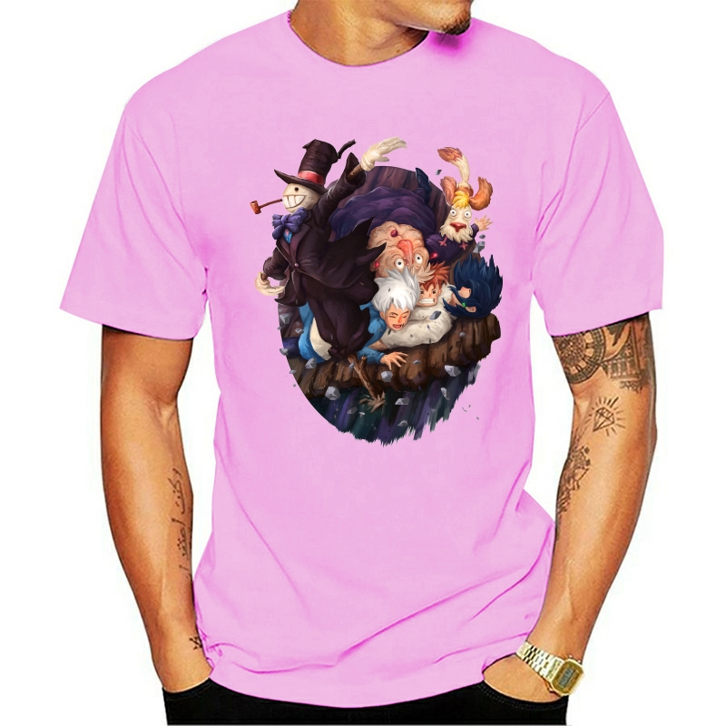 t shirt Howl'S Moving Castle Men'S Fashion With Tags Fashion Classic Style Tee Shirt