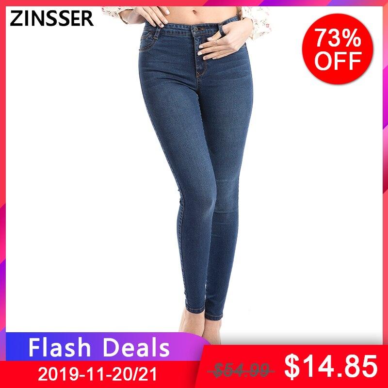 11,11 Herbst Winter Frauen Denim Dünne Hosen Super Stretch Gefälschte Front Tasche Taille Blau Grau Schwarz Dünne Elastische Dame Jeans