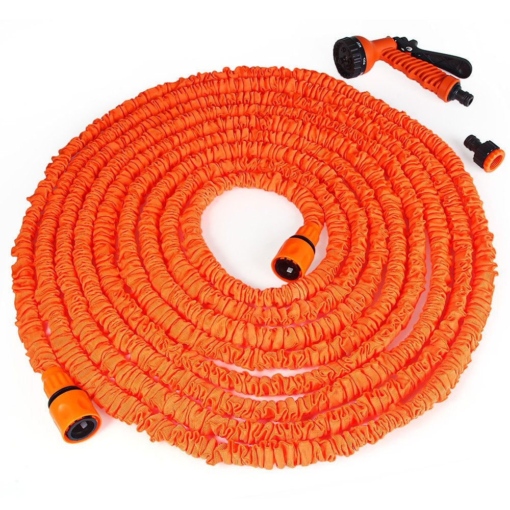 25-200FT Hot Expandable Magic Flexible Garden Water Hose For Car Hose Pipe Plastic Hoses garden set to Watering with Spray Gun(China)