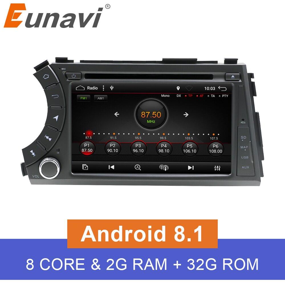 Eunavi 7 Double 2 Din Android 8 1 Octa core Car DVD player Radio Stereo GPS