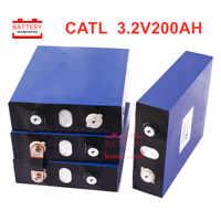 4PCS CATL LIFEPO4 3.2v200AH new LiFePO4 Rechargeable Batteries 3.2V202ah cell for 12V200AH for RV SOLAR EV Marine EU US TAX FREE