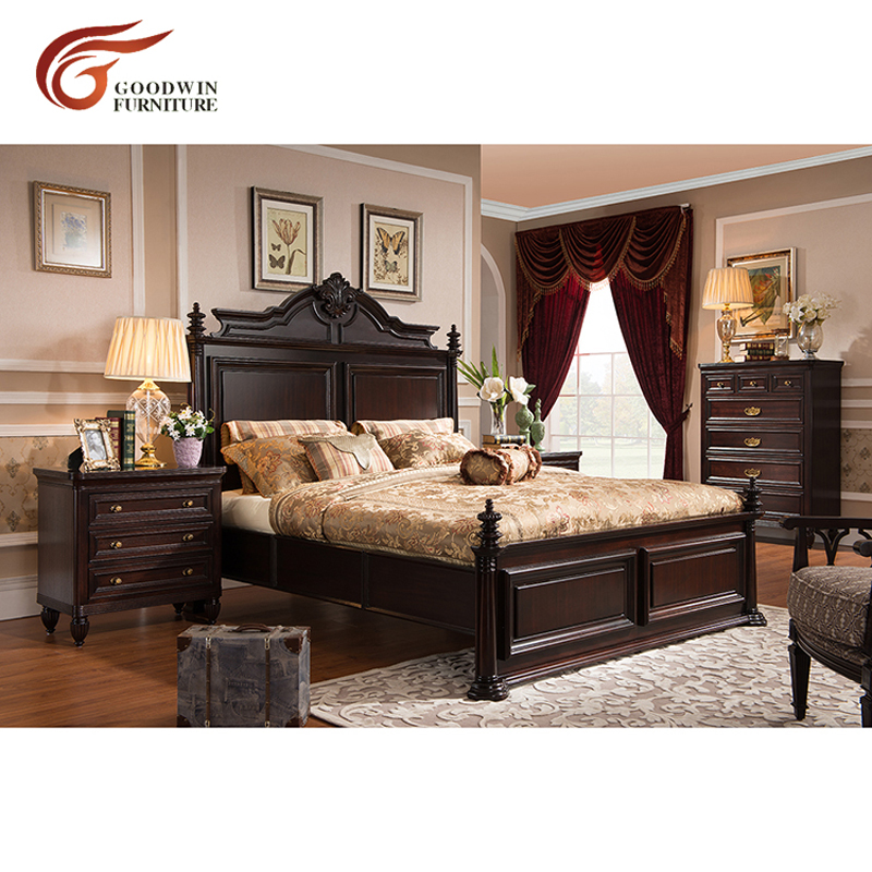 US $1057.0 |Latest wooden box bed designs modern bedroom furniture set of  king and queen size bed and match Bedside tables set WA390-in Bedroom Sets  ...