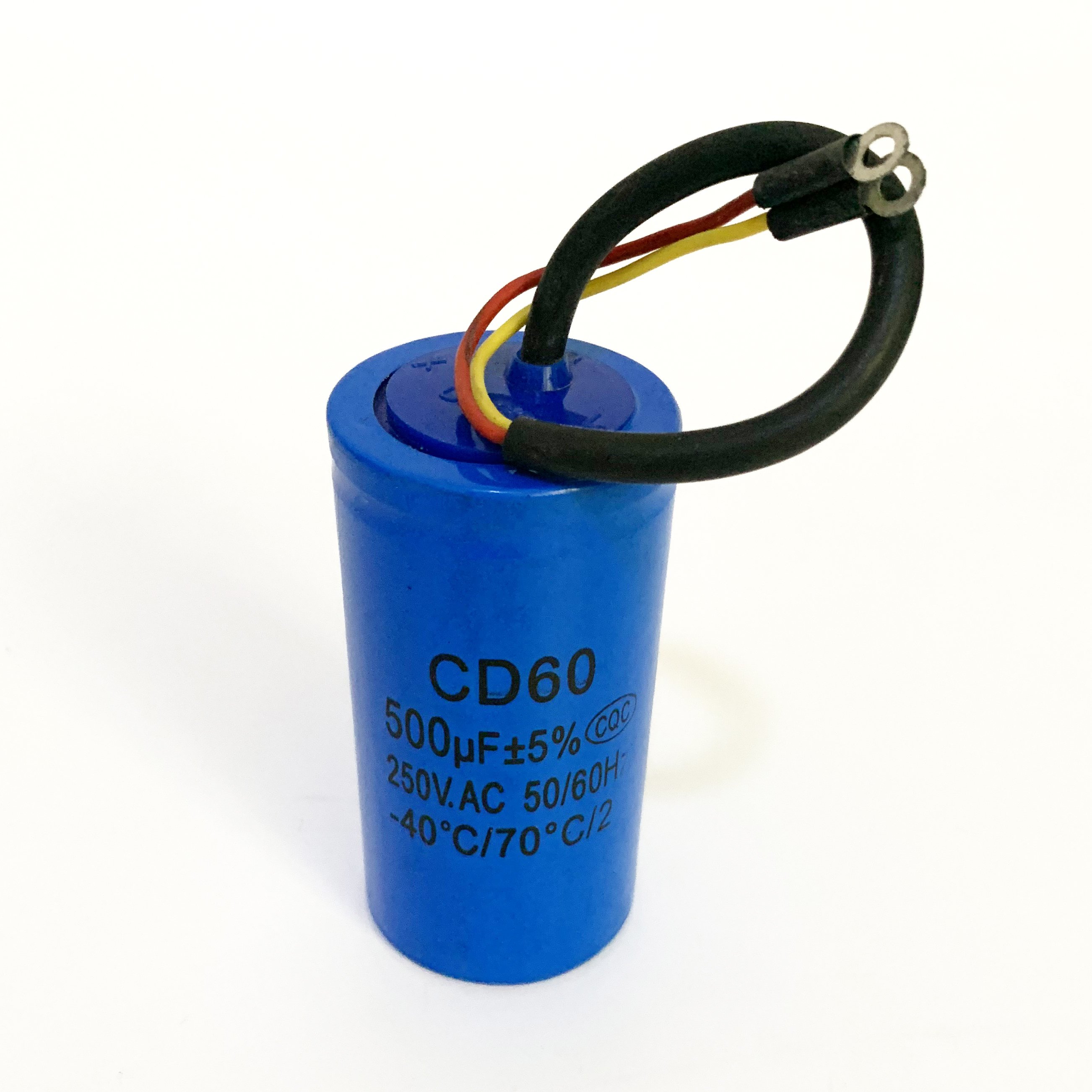 Motor Start Capacitor CD60 Capacitor,250V AC 600uF Appliance Motor Start Run Capacitor with Wire Lead for Motor Air Compressor